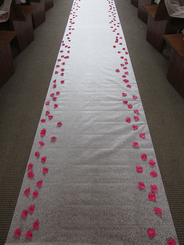Aisle Runner with Petals